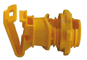 "7⁄8"" Rod Post Insulator- Yellow"