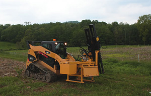 Self-Contained Skid Steer Mounted Driver