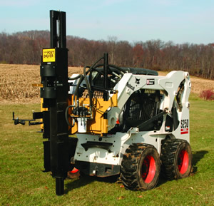 Kiwi Skid Steer Side Slide Self-Contained Post Driver