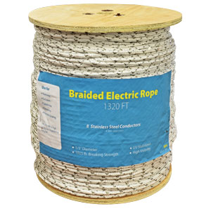 "⅓"" Braided Electric Rope"