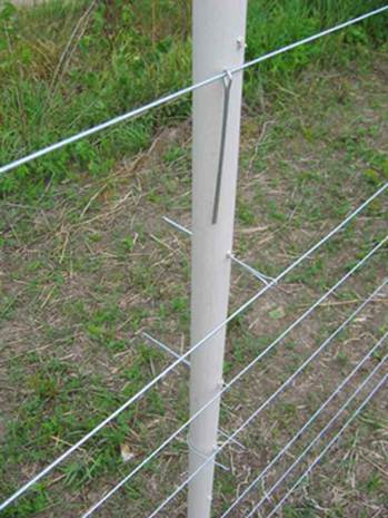 PasturePro post with multiple cotter keys