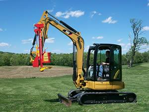 Vector Post Driver Mini Excavator Model