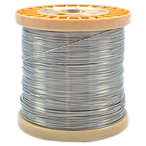 Stainless-Steel Wire, 19 Gauge - 3,000' Spool on austenitic stainless steel, tool steel, stainless steel wire management, carbon steel, stainless steel outlet, bessemer process, weathering steel, stainless steel piping, stainless steel ceiling, stainless steel connectors, stainless steel guy wire, stainless steel components, cold-formed steel, stainless steel braided lines, stainless steel fittings, stainless steel battery, alloy steel, stainless steel plug cap, stainless steel panels, stainless steel harness, stainless steel metal roof, stainless steel brakes, stainless steel plumbing, stainless steel adapters, martensitic stainless steel, stainless steel soap, maraging steel, polyvinyl chloride, stainless steel resistors, stainless steel cable hangers, stainless steel paint job, surgical stainless steel,